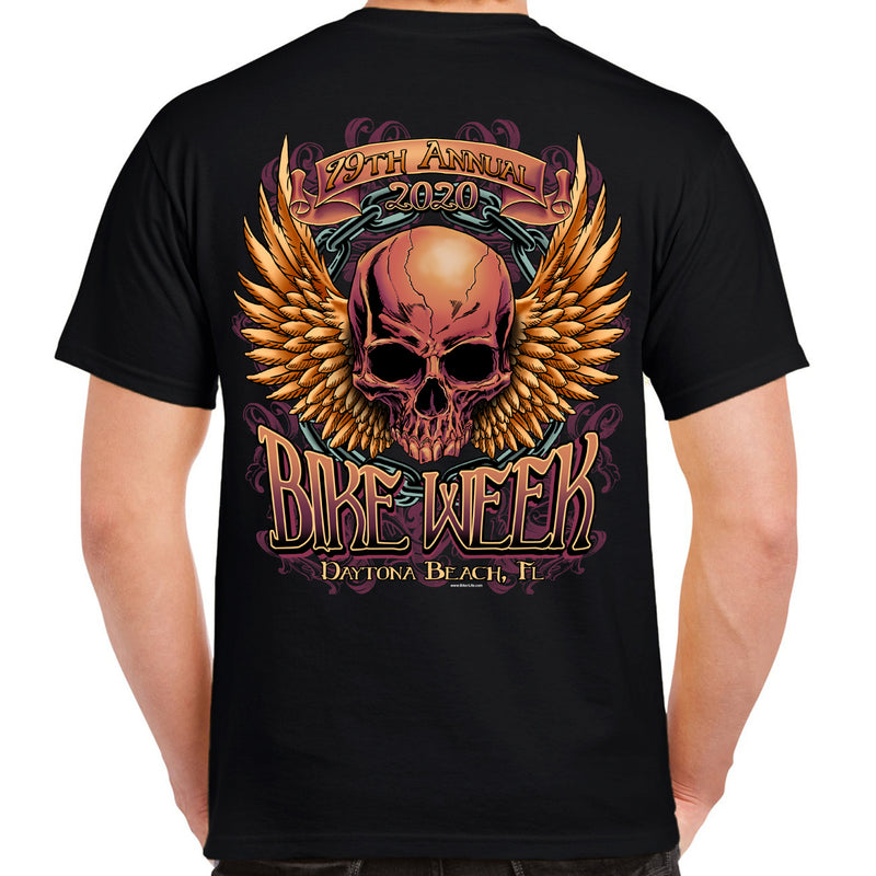 2020 Bike Week Daytona Beach Rockin' Skull T-Shirt