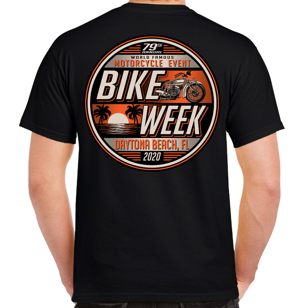 2020 Bike Week Daytona Beach Sunset Bike T-Shirt