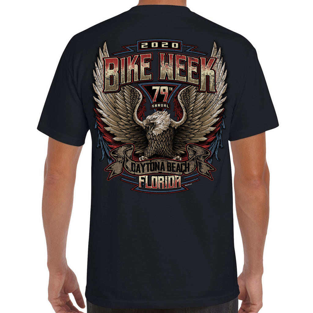 2020 Bike Week Daytona Beach Power Eagle Pocket T-Shirt