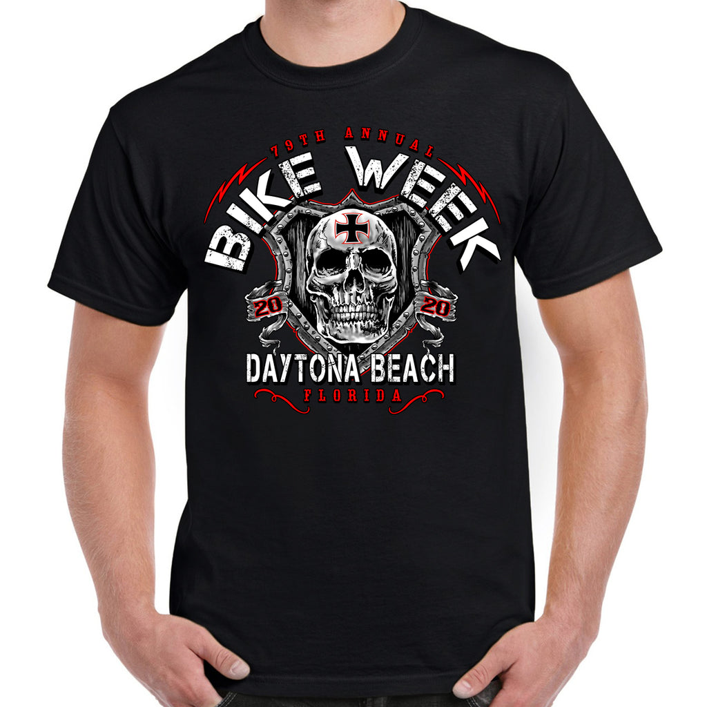 2020 Bike Week Daytona Beach Skull Shield T-Shirt