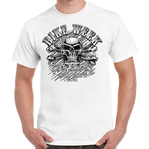 2021 Bike Week Daytona Beach 80th Anniversary Crossbones Skull T-Shirt