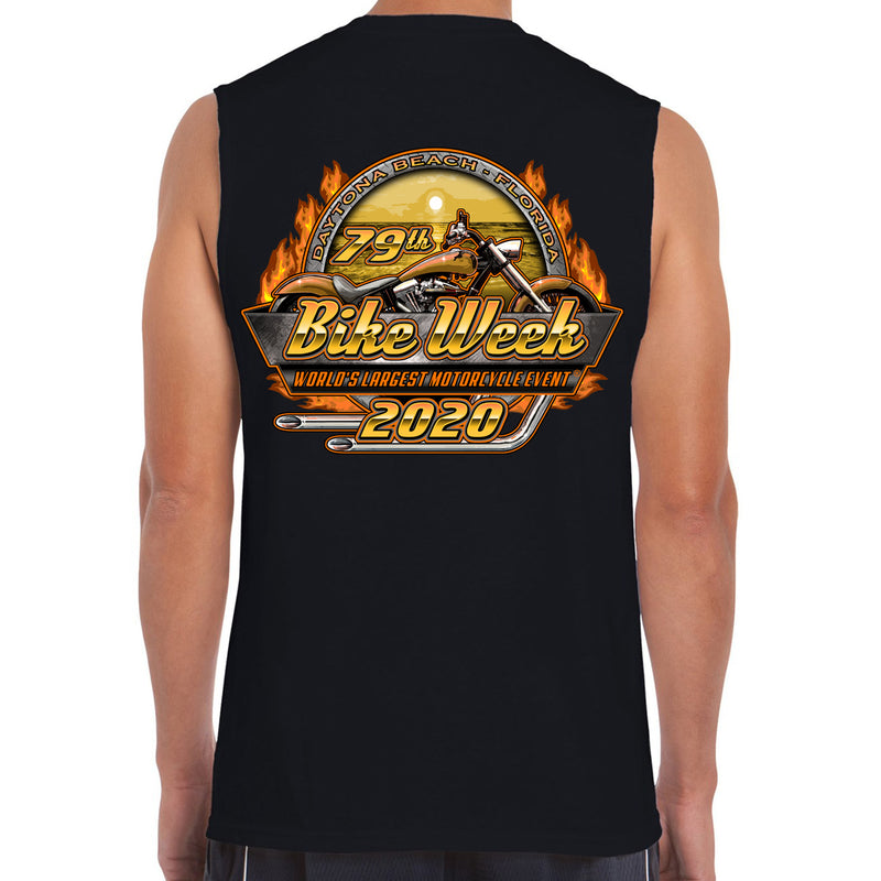 2020 Bike Week Daytona Beach Official Logo Sleeveless Shirt