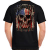 2020 Ocean City Rally Week Skull Flag T-Shirt
