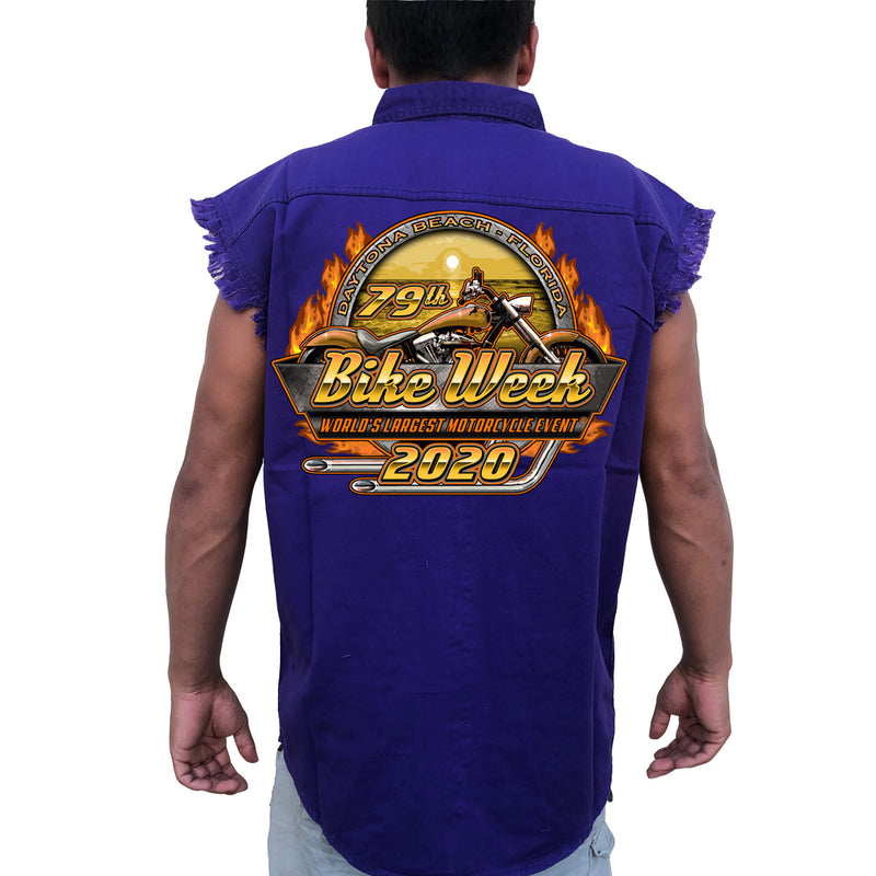 2020 Bike Week Daytona Beach Official Logo Cut-Off Denim