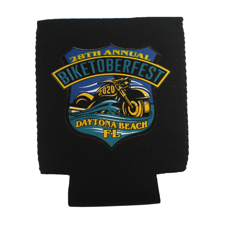 2020 Biketoberfest Daytona Beach Shield Can Koozie