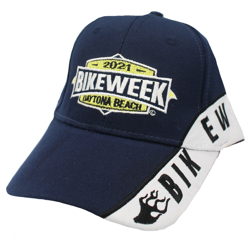 2021 Bike Week Daytona Beach Embroidered Shield Stripe Hat