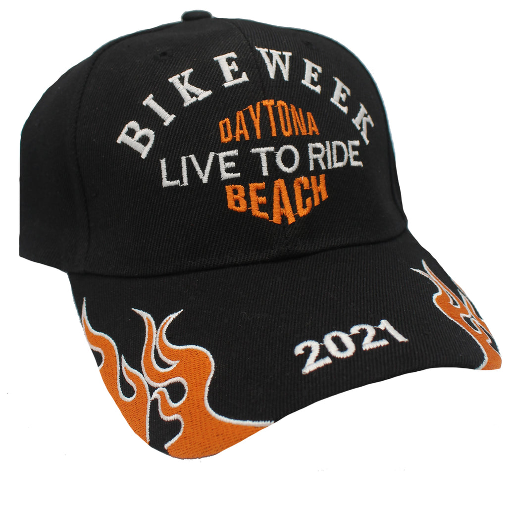 2021 Bike Week Daytona Beach Embroidered Flame Hat