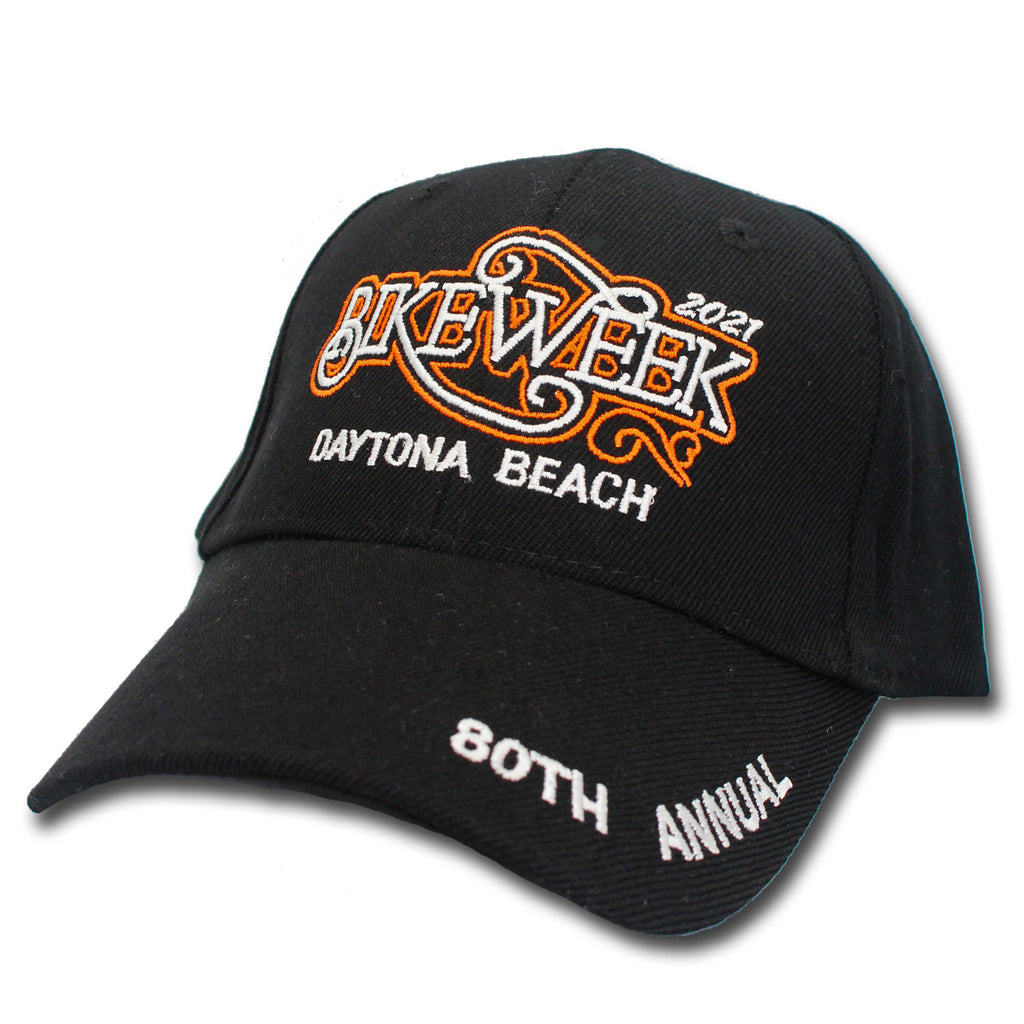 2021 Bike Week Daytona Beach Embroidered Classic Script Hat