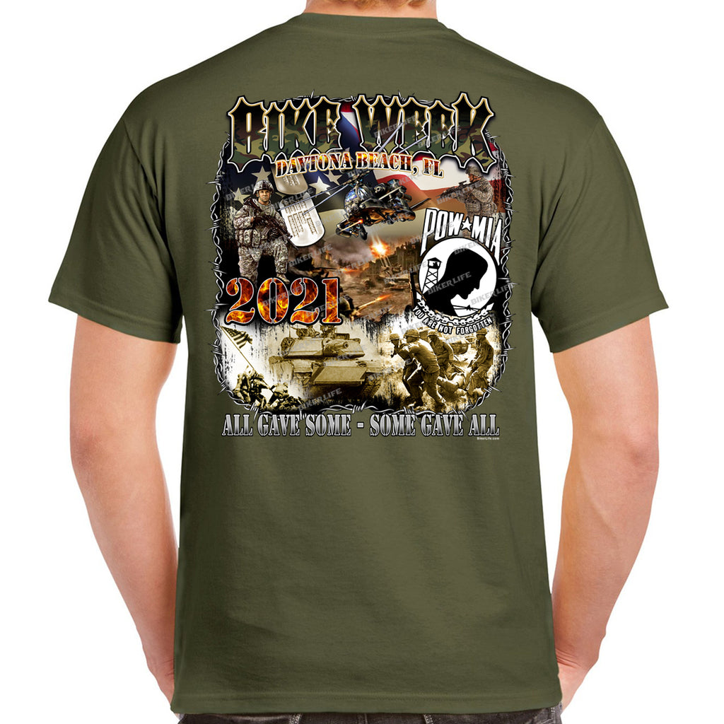 2021 Bike Week Daytona Beach POW MIA Remembrance T-Shirt