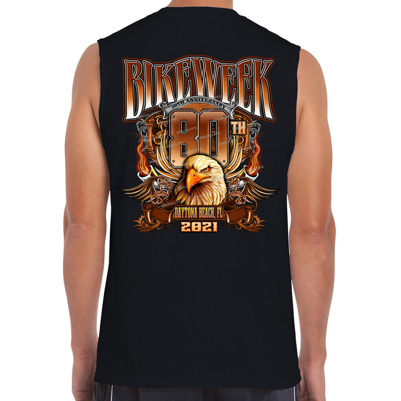 2021 Bike Week Daytona Beach Big Banner Eagle Muscle Shirt
