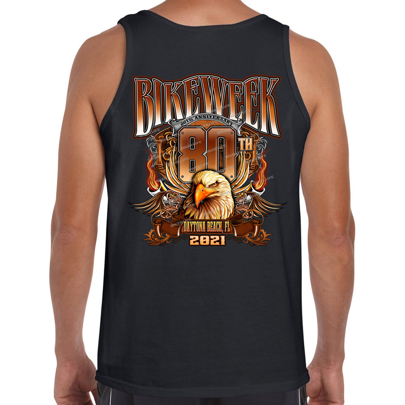 2021 Bike Week Daytona Beach Big Banner Eagle Tank Top