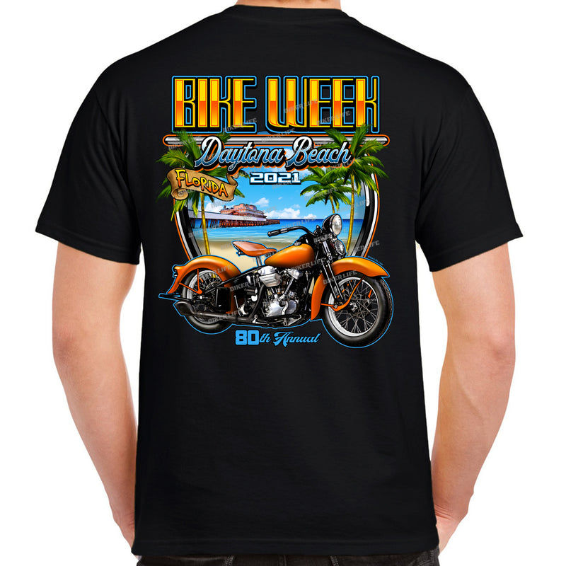 2021 Bike Week Daytona Beach Beach Shield T-Shirt