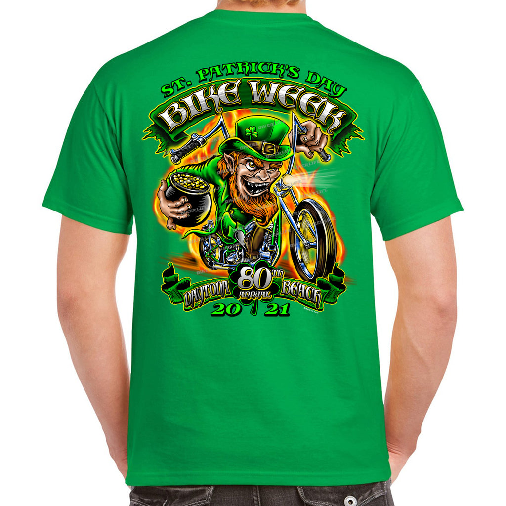 2021 Bike Week Daytona Beach Fiery Leprechaun T-Shirt