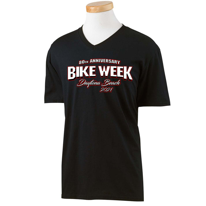 2021 Bike Week Daytona Beach 80th Anniversary Men's V-Neck