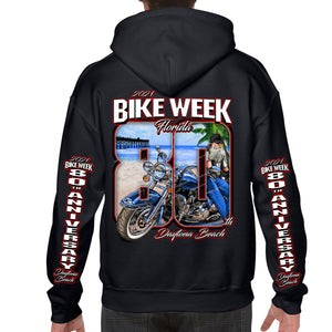 2021 Bike Week Daytona Beach 80th Anniversary Pullover Hoodie