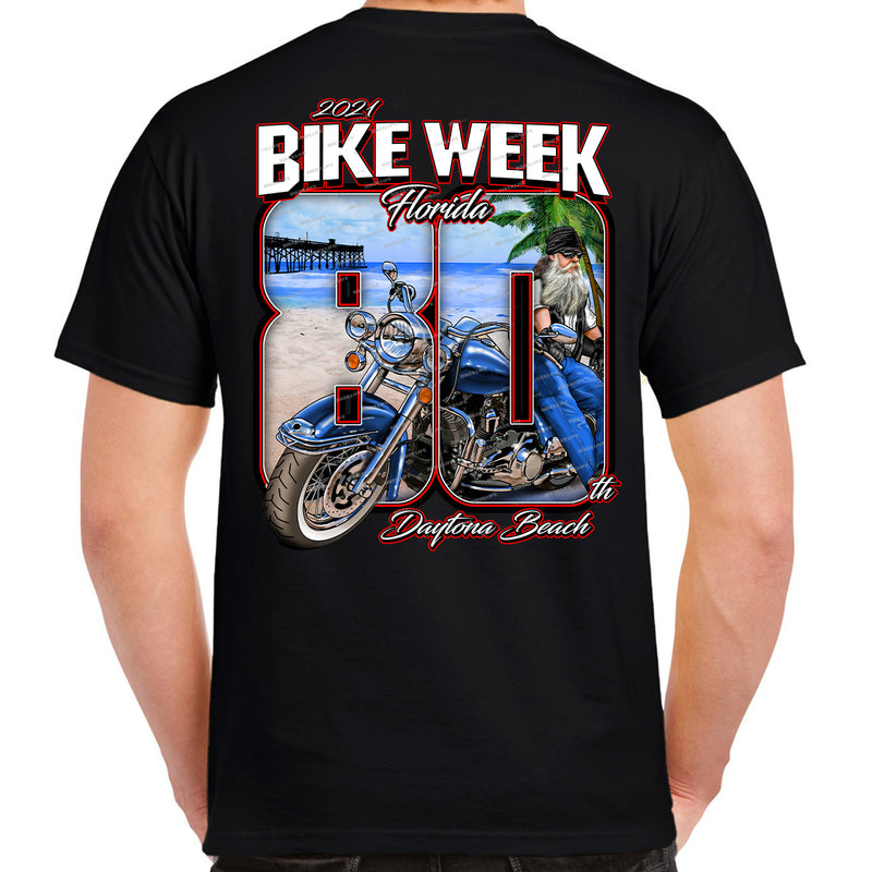 2021 Bike Week Daytona Beach 80th Anniversary T-Shirt