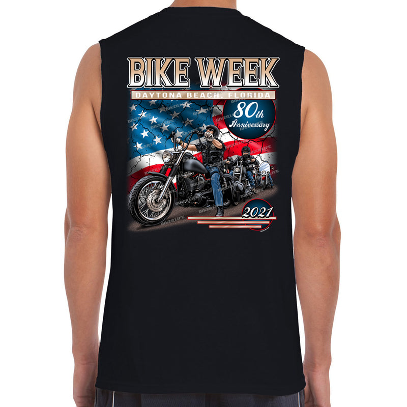 2021 Bike Week Daytona Beach American Biker Muscle Shirt