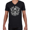 2021 Bike Week Daytona Beach 80th Anniversary Crossbones Skull Men's V-Neck