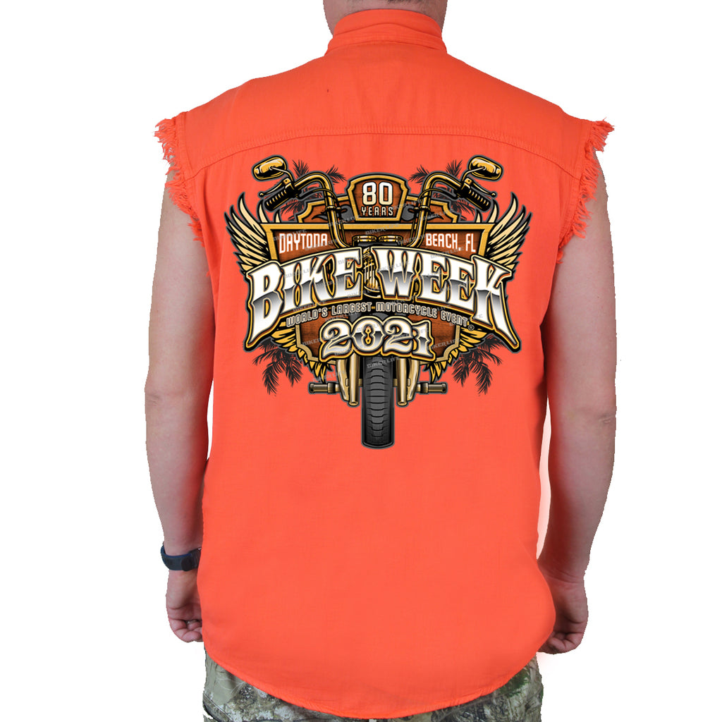 2021 Bike Week Daytona Beach Official Logo Cut-Off Denim