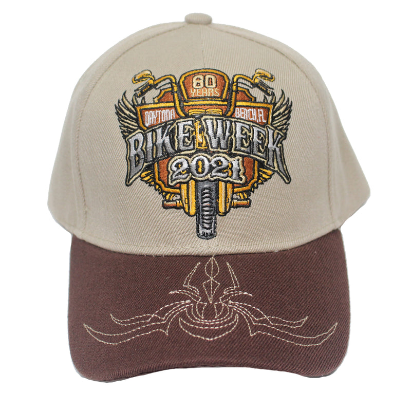 2021 Bike Week Daytona Beach 80th Anniversary Embroidered Official Logo Hat