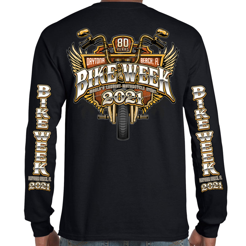 2021 Bike Week Daytona Beach Official Logo Long Sleeve