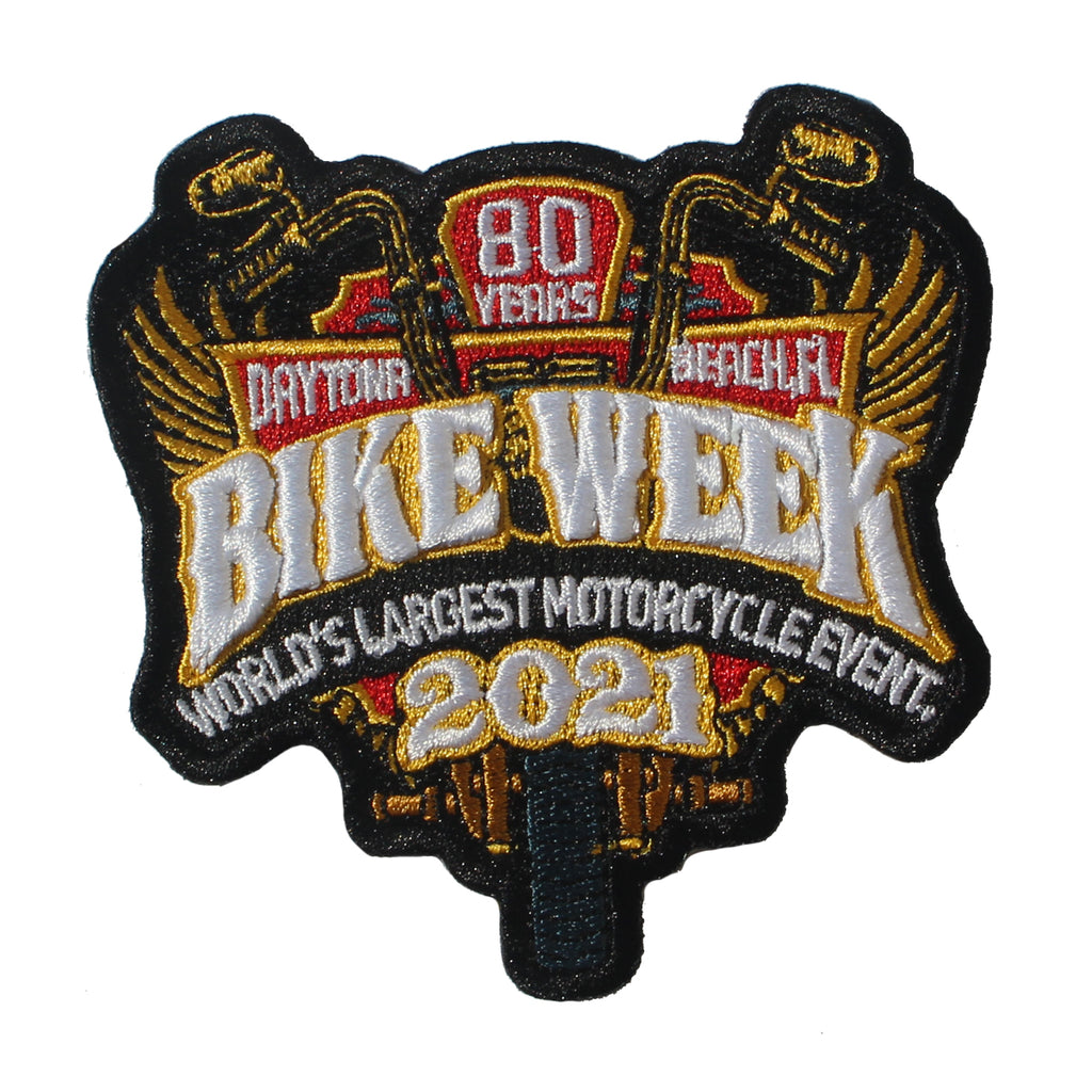 2021 Bike Week Daytona Beach 80th Anniversary Official Logo Patch