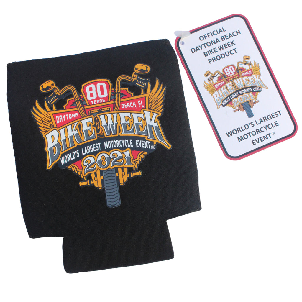 2021 Bike Week Daytona Beach Official Logo Can Koozie