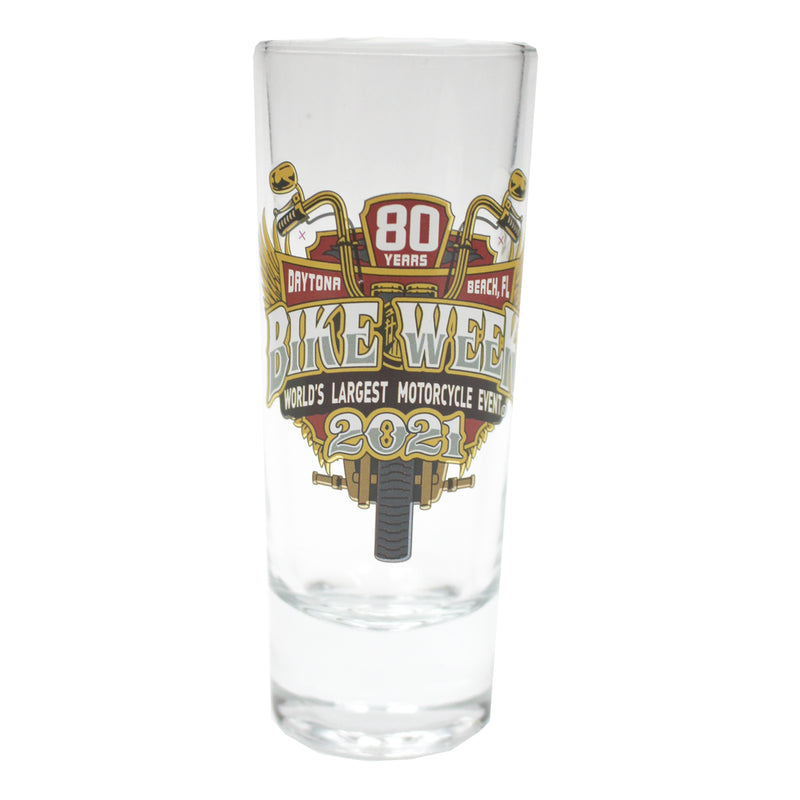 2021 Bike Week Daytona Beach 80th Anniversary Official Logo Shooter Glass