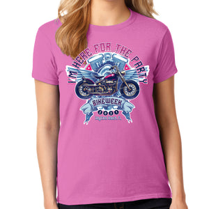 Ladies Missy Cut 2021 Bike Week Daytona Beach I'm Here For The Party T-Shirt