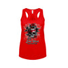 Ladies 2021 Bike Week Daytona Beach Rose Skull Racerback Tank Top