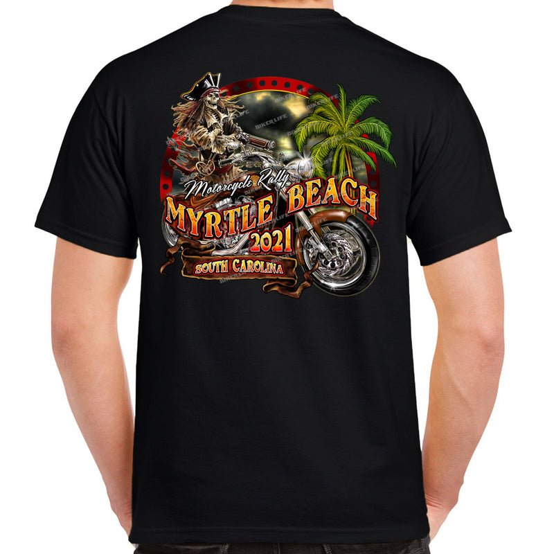2021 Myrtle Beach Motorcycle Rally Pirate Beach Rider T-Shirt