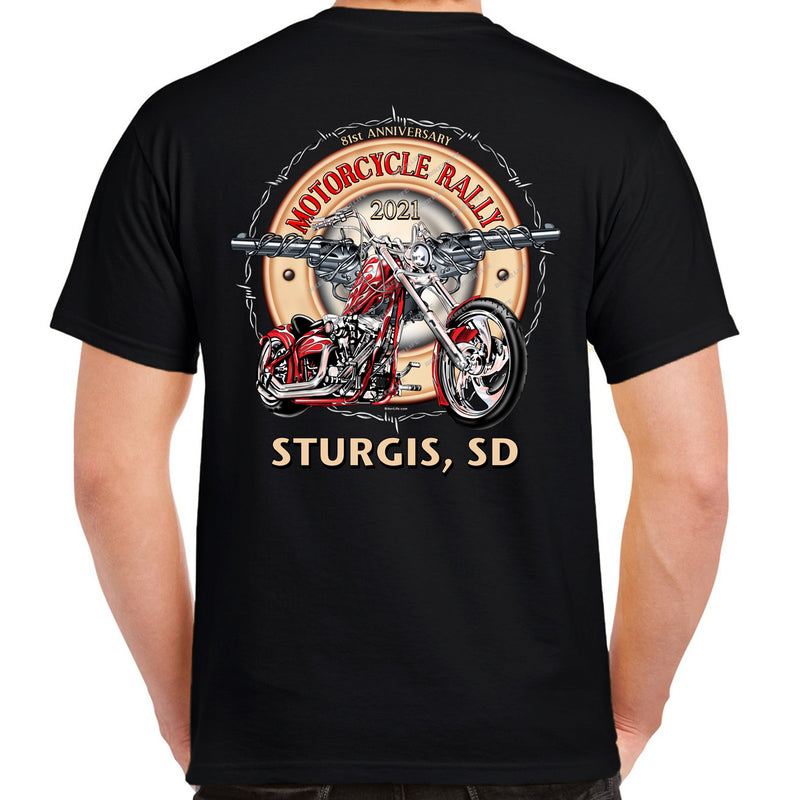 2021 Sturgis Motorcycle Rally Bikes Guns & Roses T-Shirt