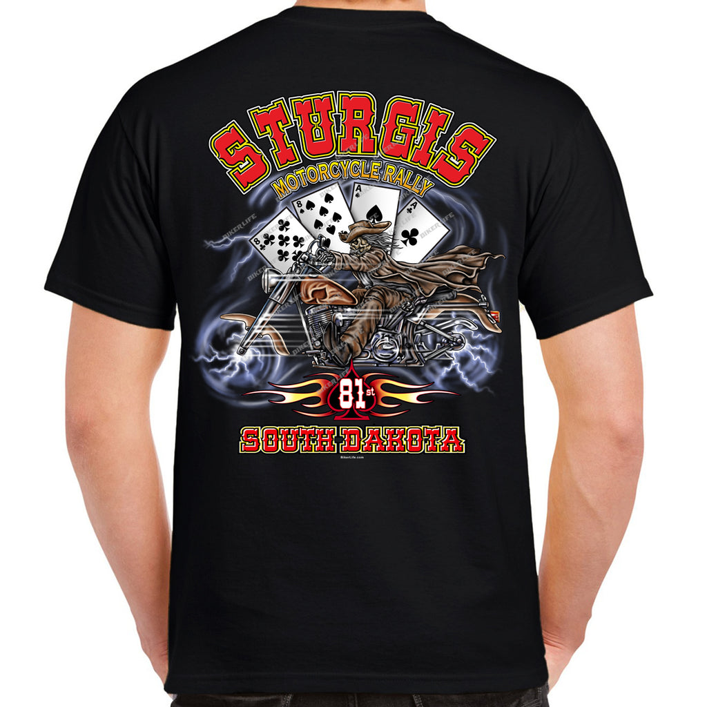 2021 Sturgis Motorcycle Rally Wild Bill Spade T-Shirt