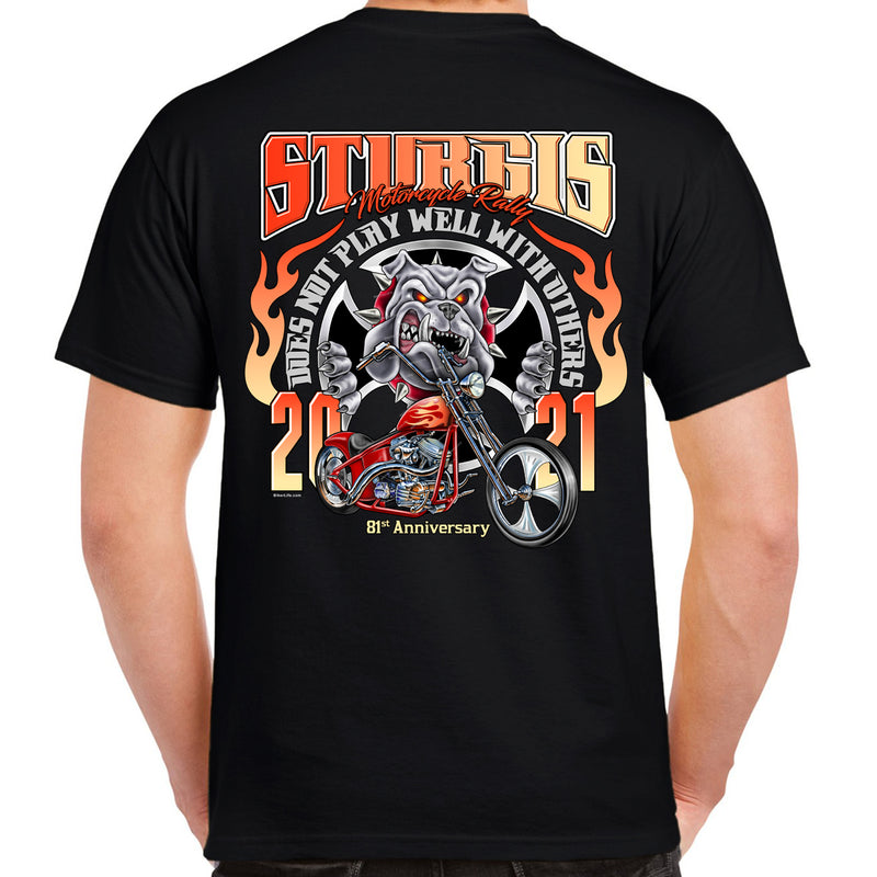 2021 Sturgis Motorcycle Rally Does Not Play Well With Others T-Shirt