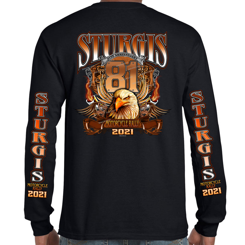 2021 Sturgis Motorcycle Rally Big Banner Eagle Long Sleeve