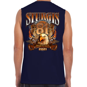 2021 Sturgis Motorcycle Rally Big Banner Eagle Muscle Shirt