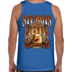 2021 Sturgis Motorcycle Rally Big Banner Eagle Tank Top