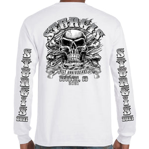 2021 Sturgis Motorcycle Rally Crossbones Skull Long Sleeve
