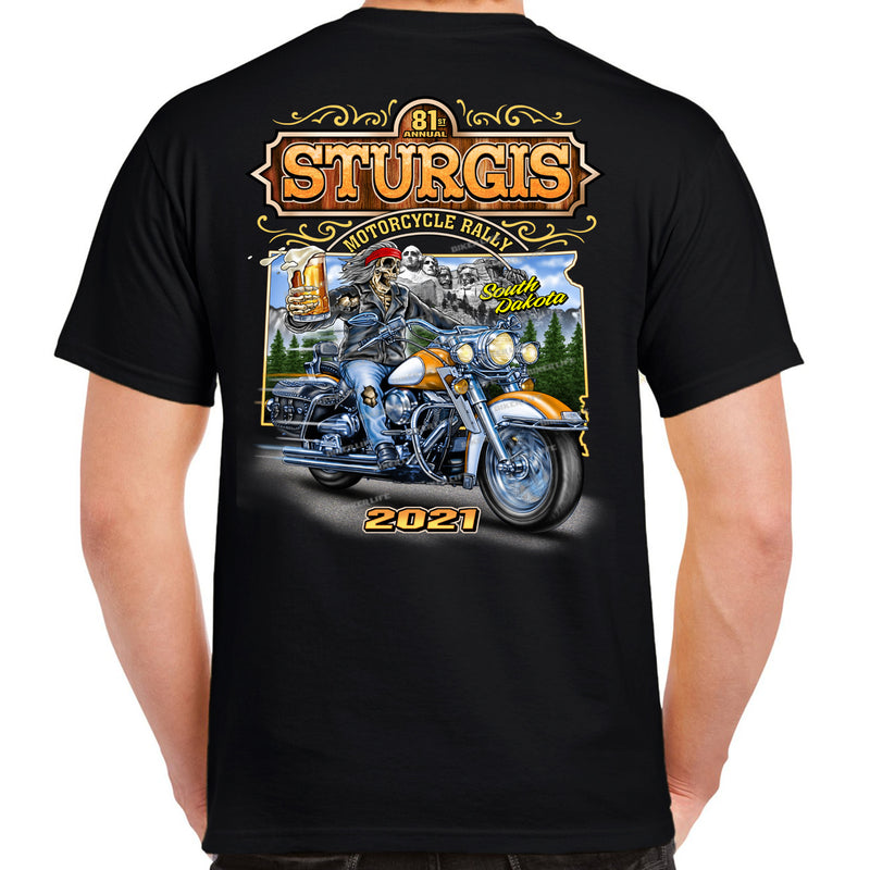 2021 Sturgis Motorcycle Rally Freedom & Beer T-Shirt