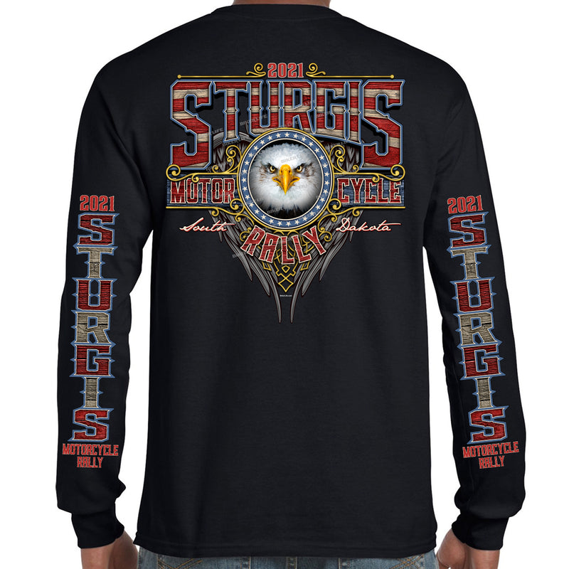2021 Sturgis Motorcycle Rally Vintage Eagle Long Sleeve