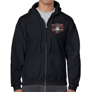 2021 Sturgis Motorcycle Rally Vintage Eagle Zip-Up Hoodie