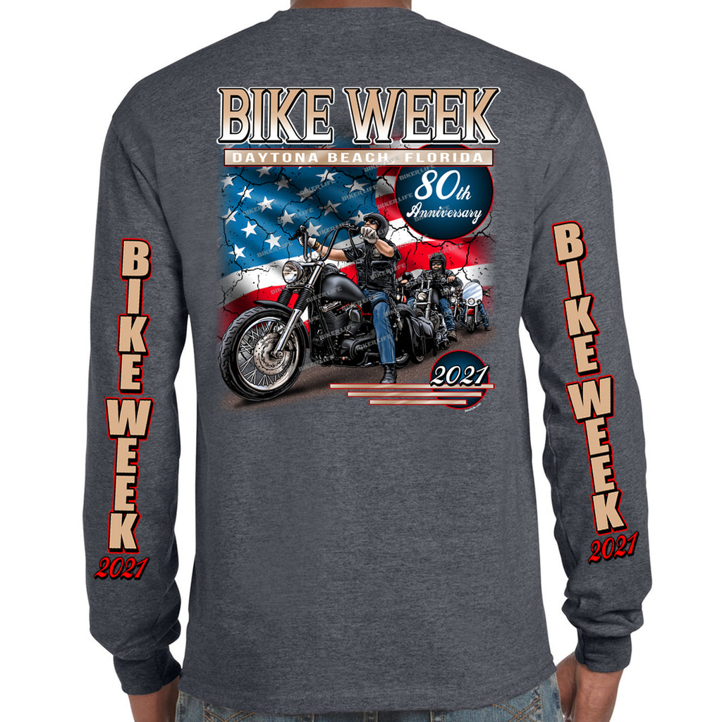 2021 Bike Week Daytona Beach American Biker Long Sleeve