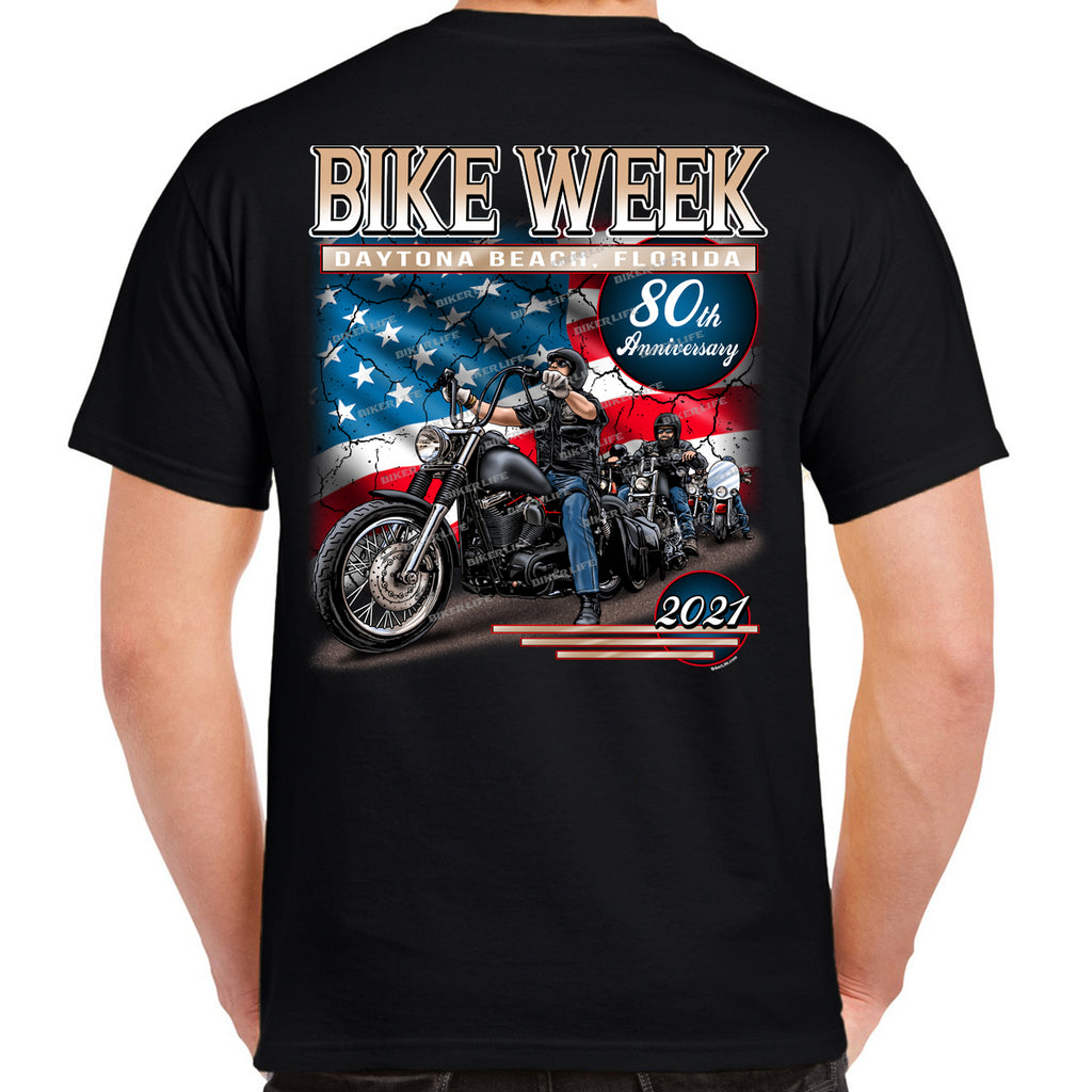2021 Bike Week Daytona Beach American Biker T-Shirt