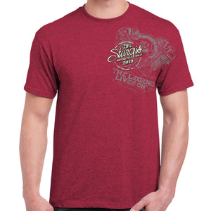 Front of 2019 Sturgis Legend Engine T-Shirt in Red
