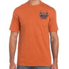 Front of 2019 Sturgis Rushmore Rider T-Shirt in Orange