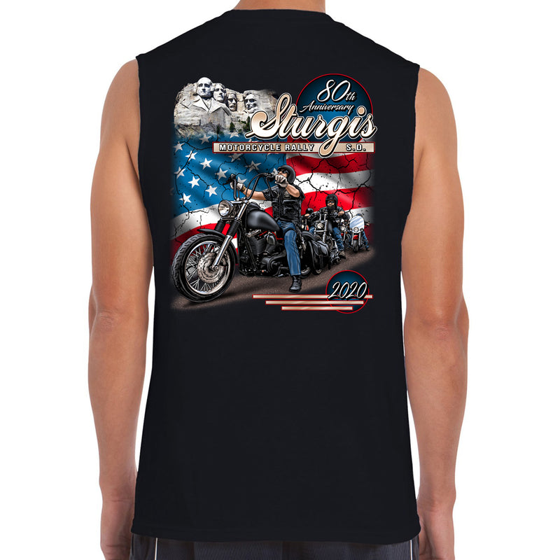 2020 Sturgis Motorcycle Rally American Bikers Muscle Shirt