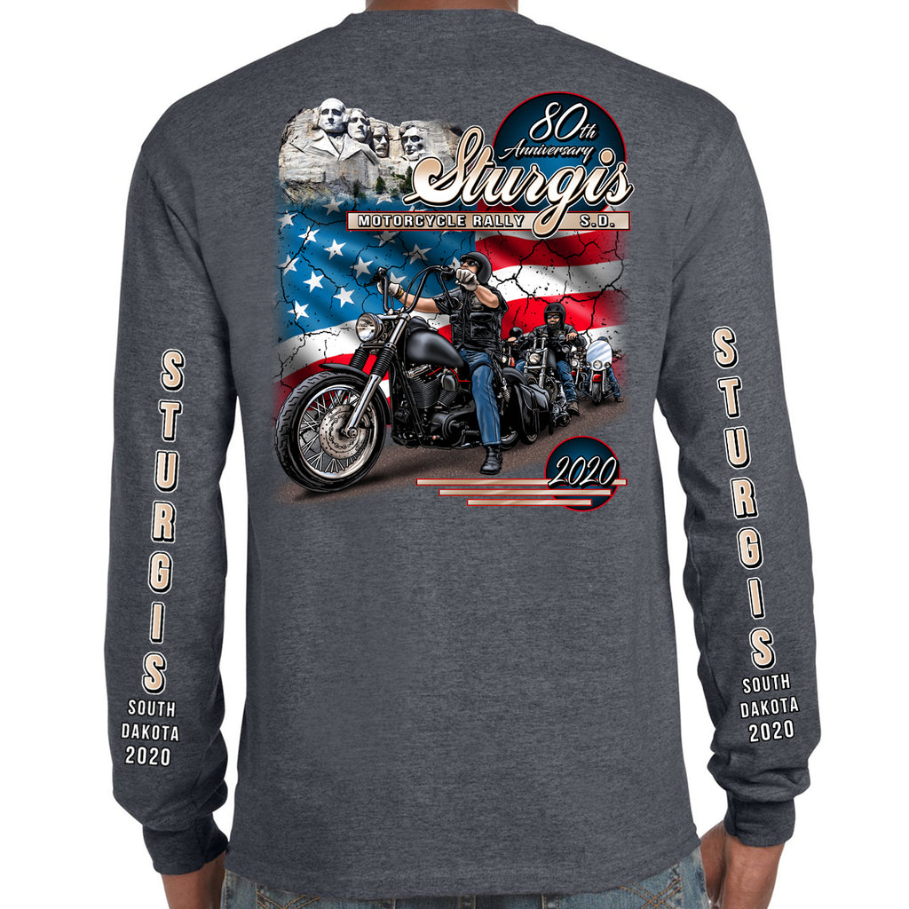2020 Sturgis Motorcycle Rally American Bikers Long Sleeve