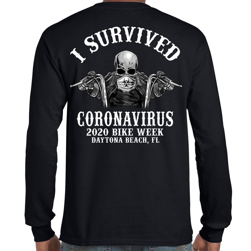 2020 Bike Week Daytona Beach Coronavirus Long Sleeve Shirt