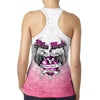 Ladies 2018 Bike Week Daytona Beach Heart Sword Ombre Burnout Racerback