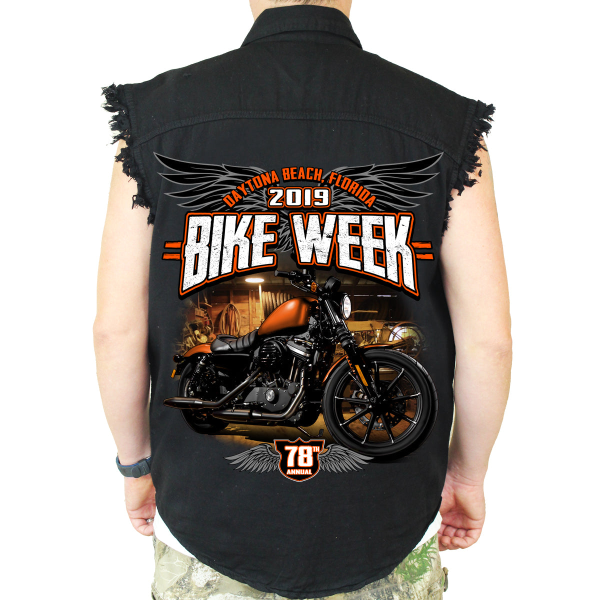 3219b7549a 2019 Bike Week Daytona Beach Dark Side Cut-Off Denim – Biker Life ...
